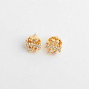 🔥Tory Burch Fashion full diamond logo earrings